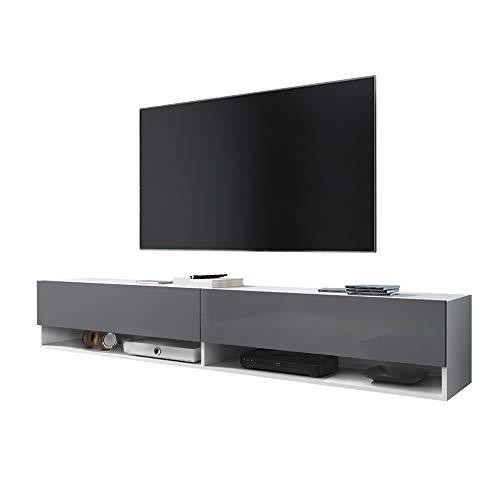 Selsey WANDER - Mobile TV Sospeso/ Porta TV Stile Moderno/ Tavolino TV per Soggiorno 180 cm/ Bianco...
