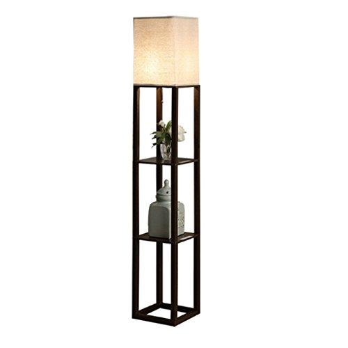 Floor Stand Lights - Lampada da terra soggiorno marrone- con lampada da comodino camera da letto USB...