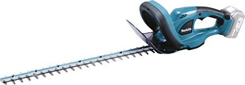 Probably the best rated hedge trimmer, this Makita has everything every gardener desires. These include an anti-vibration body with 5 layers of shock-absorbing cushions, rubberised soft grip, user-replaceable 52cm blade, and electric brake for safety. Moreover, this tool is pretty quiet and the blade is highly durable, thanks to a stain-free surface coating. The handle has been designed to offer extra reach while being comfortable to maneuver. For sure you will love every aspect of this product.