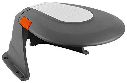 Caseta para robots cortacésped GARDENA: refugio para robot segador, protección del sol y las tormentas, tapa plegable, resistente a las inclemencias del tiempo, incl. tornillos de fijación (4007-60)