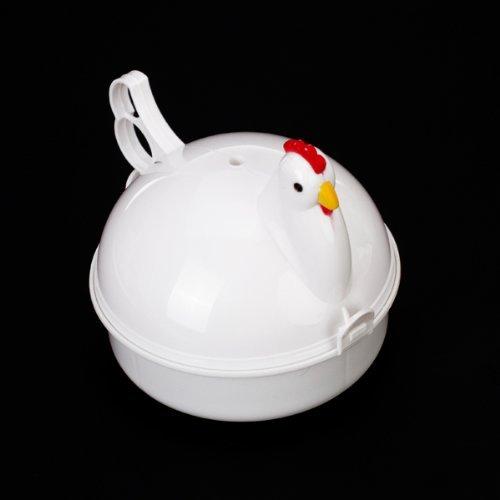 Sonline Cuoci Bolli 4 Uova a Microonde Forma Gallo in Plastica da Cucina