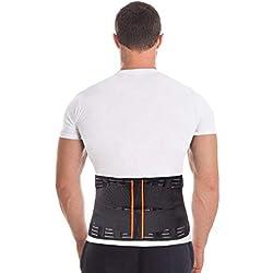 TOROS-GROUP Faja para la espalda-Soporte Lumbar para Aliviar Dolor y Lesiones-Cinturon Lumbar Prevenir Daños-Doble Ajuste Para Adaptación Perfecta-Para Hombre y Mujer M