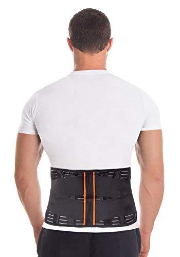 Cintura lombare di sostegno - Fascia Schiena Elastica Lombare - Cintura lombare terapeutica-4 rigide...