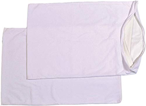 Trance Home Linen Cotton Waterproof Pillow Protector (18x28-inch, White) - Set of 2