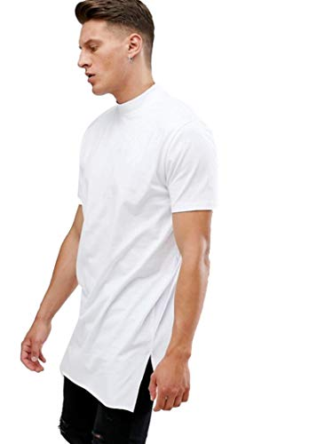 PAUSE White Solid Round Neck Slim Fit Half Sleeve Men's T-Shirt 2