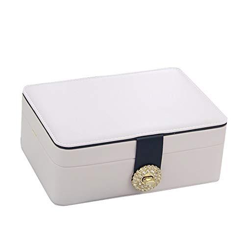 ZRYJWG Jewellery Box Organizzatore for Orecchini, Anelli, collane, bracciali, Strato WatchesDouble...