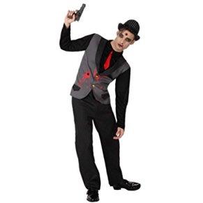 Atosa-14931 Disfraz Gangster Zombie para Hombre, color negro, X l (14931)