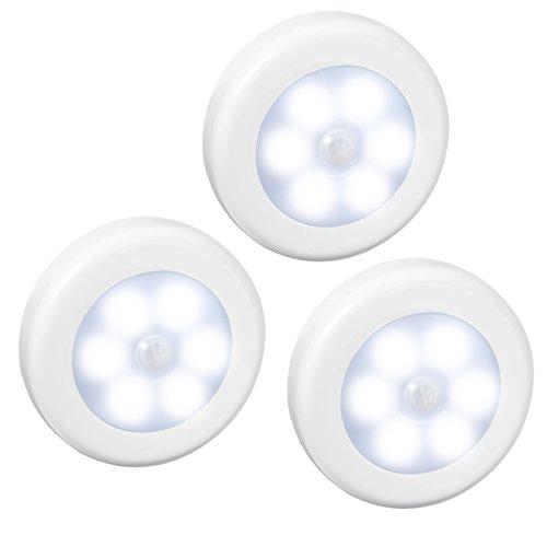 AMIR Luce Wireless con Sensore di Movimento, Luci Armadio, Lampada da Parete, 3 Modalità, Luce...