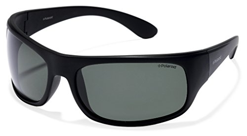 Polaroid 7886 - Gafas de sol rectangulares unisex, color negro (black), talla 66