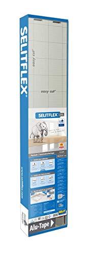 Selitflex - Materassino isolante per parquet e laminato, 3 mm, 2 in 1