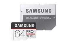 Samsung Pro Endurance - Tarjeta de Memoria microSDHC DE 64 GB con Adaptador SD