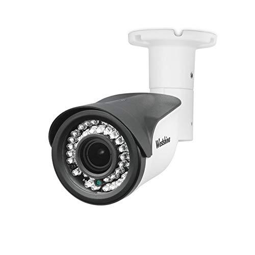 Westshine 4MP 4-in-1 Security Bullet Camera 1/3'Sensore 2.8-12mm Lenti Varifocal 42 LED IR Cut 130 piedi visione notturna Indoor Indoor Surveillance Cameras con menu OSD (Varifocal 4MP)