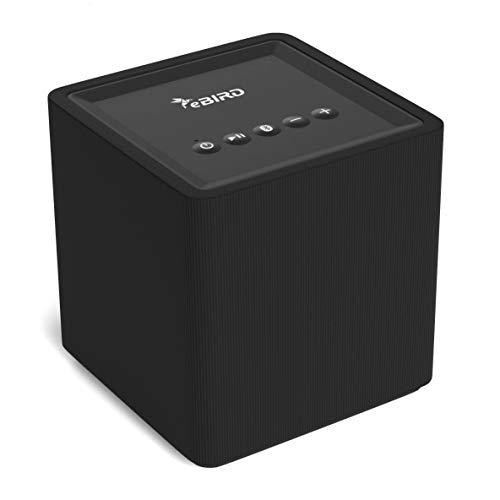 eBIRD WLAN-Lautsprecher mit Chromecast Built-in für kabelloses Musikstreaming | kompatibel mit Android und iOS | Multiroom fähig | Google Home | Spotify Connect | 10 Watt Box | schwarz