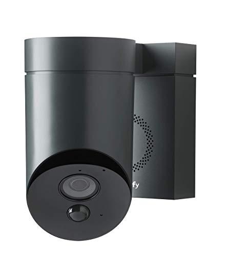 312vM3AhwJL [Bon Plan Domotique] Somfy 2401563 - Outdoor Camera   Caméra de surveillance extérieure Wifi   1080p Full HD   Sirène 110 dB   3 branchements possibles