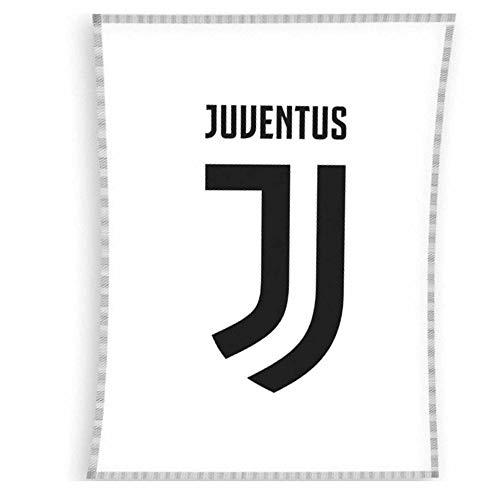 Coperta in Pile con Stemma Ufficiale FC Juventus (Serie A) (100% Poliestere e 140 cm x 110 cm)