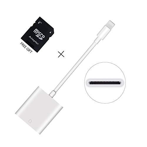WamGra Lettore di Schede SD Adattatore Telecamera per iPhone iPad, (IOS 9.2 o superi) iphone 5 / 5s / SE / 6 / 6s / 6 Plus / 7/7 Plus / iPad Mini / Air / Pro,Card Camera Reader Viewer Adapter