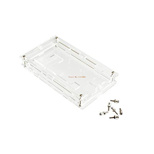 DIYUKMALL Enclosure Transparent Gloss Acrylic Box Compatible for arduino Mega 2560 R3 Case
