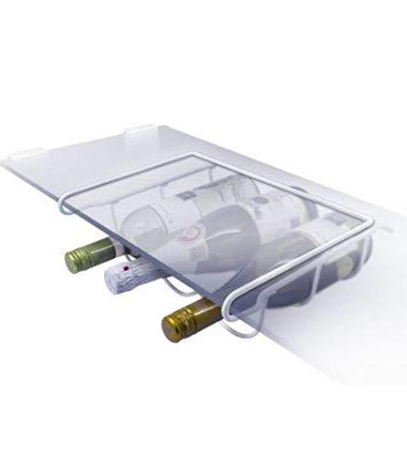 Supporto di bottiglia di vino universale, per il frigorifero, in bianco