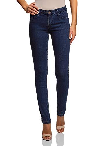 oodji Ultra Damen Jeans Skinny Basic, Blau, 28W / 32L (DE38 = EU40 =...