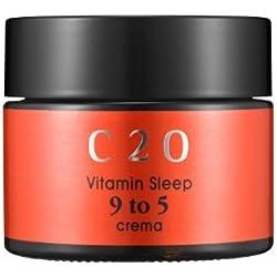 OST - C20 Vitamin Sleep 9 to 5 Crema - Nachtcreme mit Vitamin C, Sheabutter und Jojobaöl für Frauen und Männer - Feuchtigkeitscreme - Nachtpackung - Schlafmaske Damen - Gesichtspflege für die Nacht - Nachtcreme / Nachtpflege für trockene / normale / fettige Haut / Mischhaut