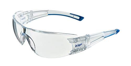 Dräger X-pect 8330 - Gafas de seguridad   Lentes de protección rayos UV antivaho  Dieléctricas para ambientes de alto voltaje