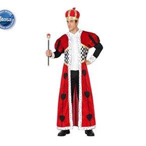 Atosa - Disfraz de rey de corazones para adulto (111-26857)