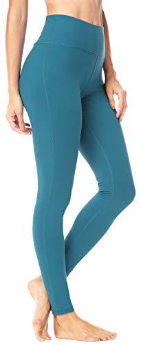QUEENIEKE Leggings da Allenamento per Pantaloni da Yoga Flessibili da Donna Colore Blu-Verde Taglia L (12)