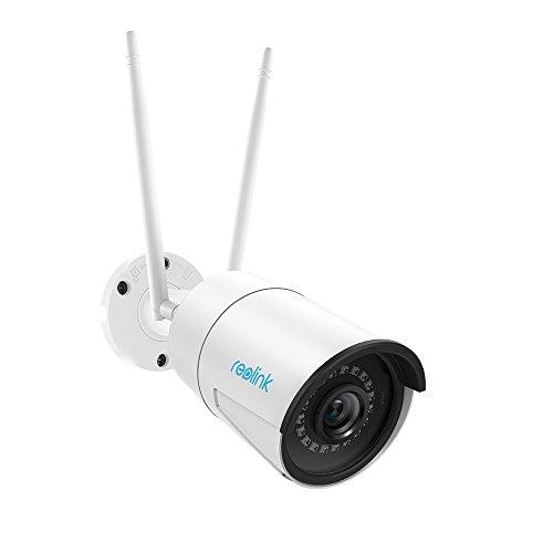 REOLINK Videocamera Sorveglianza Esterno WiFi 4MP 2.4GHz o 5GHz Slot per Scheda Micro SD Integrato (Supporto Max 64GB) IP66 Telecamera per Telecamera di Sicurezza Supporto Audio RLC-410W