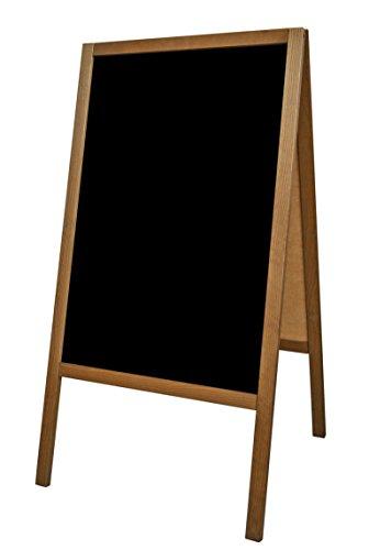 Cavalletto pubblicitario supporto pubblicitario espositore pubblicitario lavagna nero legno S 100 x...