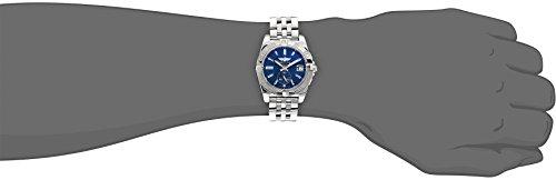 Breitling Galactic 36 Damen-Automatikuhr mit blauem Zifferblatt, Analoganzeige und silberfarbenem Edelstahl-Armband A3733012/C824/376A - 5