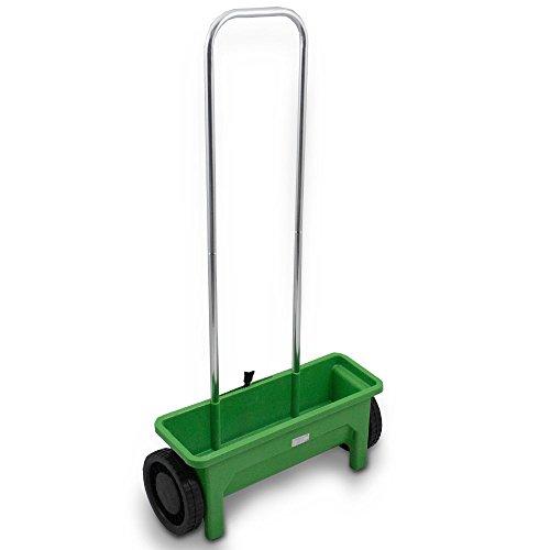 BITUXX® Streuwagen Streugerät Universalstreuer Streusalz Salz Gras Rasen Dünger Saat Saatgut Garten universal 12L