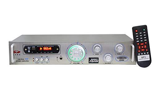Barry John Amplifier with USB, Aux, MMC, FM, Bluetooth, MIC Socket & Power Transistor 3055 160 W AV Power Amplifier