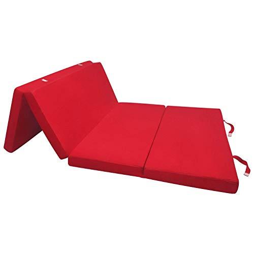 Beautissu Materassino futon Pieghevole Ospiti Campix 120x195cm - soffice Confortevole e Funzionale -...