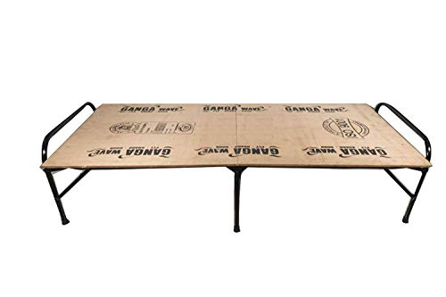 Ponperi Single Size Folding Bed   Iron Folding Bed   Wood Folding Bed   Plywood Folding Bed   Folding Bed Single for Household Purpose