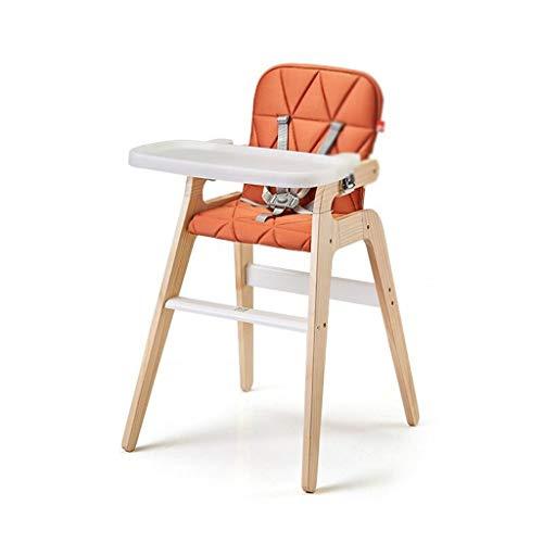 Seggiolone per Bimbo/Seggiolone con vassoio High Chair, sedia for bambini pranzo, sedia del bambino, bambino di legno solido Sedia, Tavolo da pranzo Sedile Seggiolone Pappa Ergonomico Pieghevole