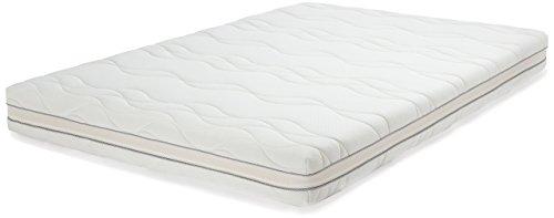 AmazonBasics - Materasso extra comfort a 7 zone in memory foam, Medio, 160 x 190 cm