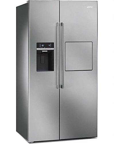 Smeg sbs63X EDH autonomo 544l a + Acciaio inossidabile frigorifero americano autonomo, Acciaio...