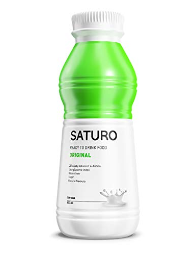 Batido Sustitutivo Saturo - Comida Sana Preparada y Vegana con Proteínas Isolate (Original, 12 x 500 ml)