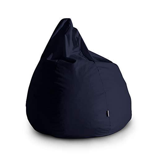 Avalon Pouf Poltrona Sacco Grande Bag L Jive 80x80x100cm Made in Italy in Tessuto antistrappo Imbottito Colore Blu Scuro
