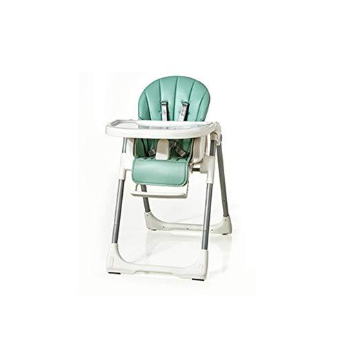 ZXQZ Seggiolone, Lettino da campeggio Pieghevole portatile for bambini Tavolo da pranzo e sedie Home Sedile multifunzione con doppio vassoio regolabile