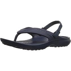 crocs Classic Flip Kids, Unisex - Kinder Pantoffeln, Blau (Navy), 33-34 EU