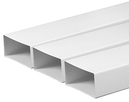 Tubo di ventilazione canali 55 X 110 mm lunghezza 0,5 m in plastica Canale piatto Canale di scarico...