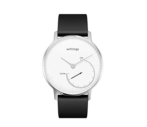Withings Nokia Health Steel Activity and Sleep Analogue Men's and Women's Watch (White)