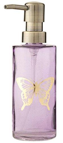 Clayre y fed 6GL1120 dispensador de jabón dispensador de loción de mariposa 7 x 18 cm de diámetro transparencia