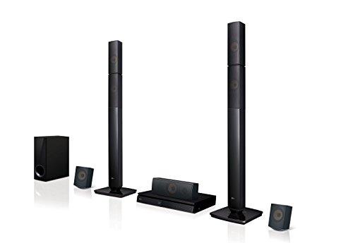 LG LHB655N Sistema altoparlante: 5.1, 1000W, 148MHz/12-bits, Subwoofer passivo Colore: Nero