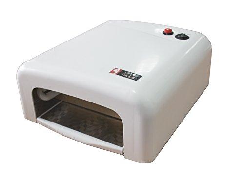 Cris Nails ® Lampara 36W Ultravioleta UV Secador de Uñas para Manicura Gel Esmalte Permanente SK-818 (Blanco)