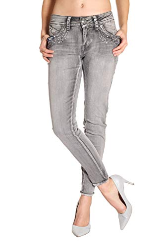 Blue Monkey Damen Cropped Jeans Laura-10126 Size 28