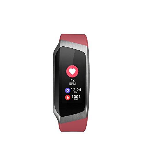 Braccialetto Intelligente, KuWFi IP67 Impermeabile Fitness Activity Tracker Pressione sanguigna...