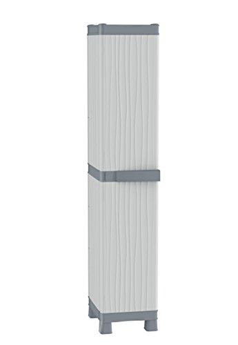 TERRY Base 2350 RUW Armadio Alto a Colonna in Plastica Tuttopiani, Grigio, 35 x 43.8 x 181.8 cm