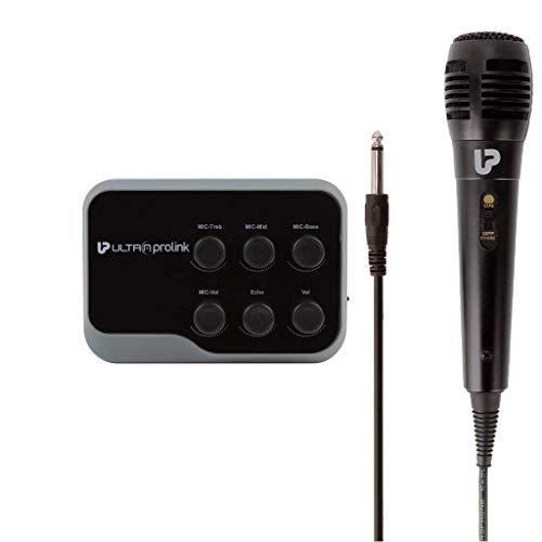 Ultra Prolink UM1002 Sing-Along Portable & Universal Wireless Karaoke Mixer with Echo & Dynamic Microphone